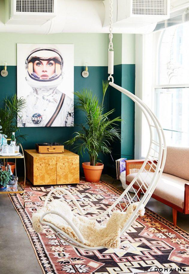 wnętrze wstylu boho, mieszkanie wstylu vintage, jak urządzić mieszkanie