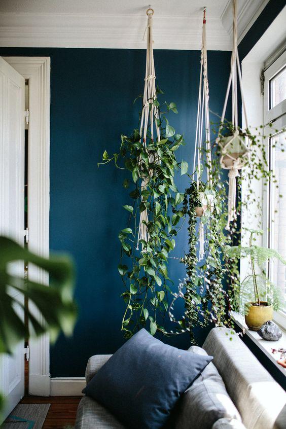 rośliny doniczkowe, rośliny domieszkania, makrama, mieszkanie wstylu skandynawskim, kwiaty wewnętrzu, oranżeria, wiosenne dekoracje, wiosenne wnętrze, wnętrze wstylu glamour, mieszkanie wstylu vintage