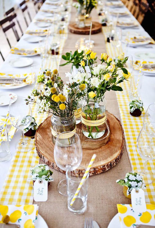 dekoracje stołu, wielkanocne dekoracje, rustykalne dekoracje, kwiaty nastole