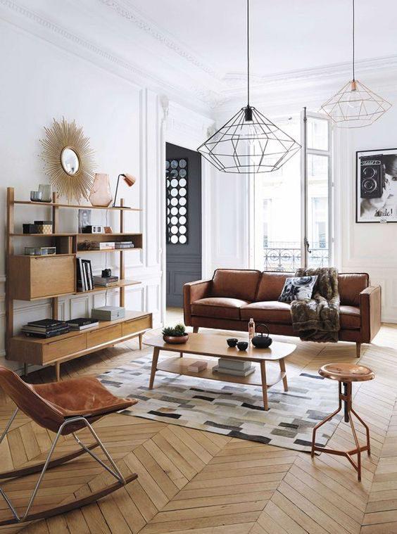 tropikalna tapeta, tapeta wpalmy, jak urządzić mieszkanie, mieszkanie wstylu vintage, mieszkanie wstylu skandynawskim, salon retro