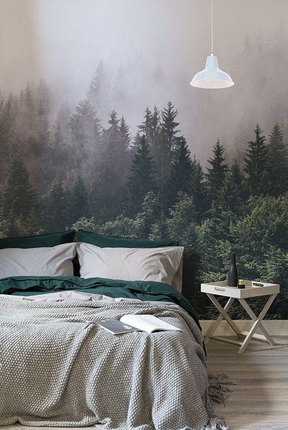 jak urządzić mieszkanie, mieszkanie wstylu vintage, mieszkanie wstylu skandynawskim, tapeta wsypialni