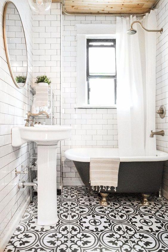 jak urządzić mieszkanie, dekorowanie łazienki, kafelki marokańskie, trendy łazienkowe
