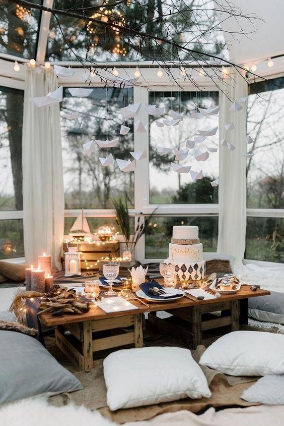 kącik aparapecie, jesienny dekor, ciepłe dekoracje