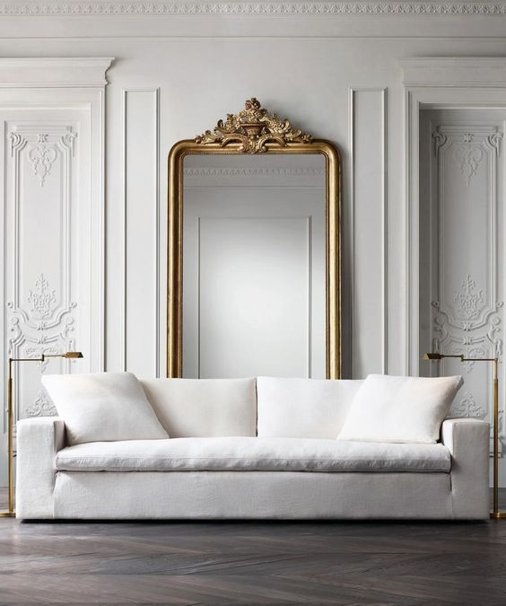 dom wstylu paryskim kanapa meble
