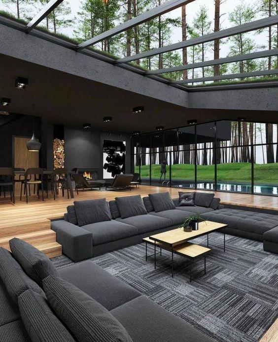 nowoczesny dom, aranżacja wnętrz, aranżacja wnętrza, nowoczesny dom parterowy, wystrój wnętrz, aranżacja wnętrza domu, wystrój wnętrz salon, wystrój wnętrz style