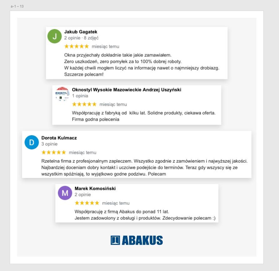 Dlaczego Abakus Okna —firma, opinie, forum